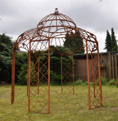 romantik pavillon metall pavillon romantik rost 216 340cm