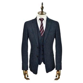 Kaos Coolsuit Co cavani kaos 3 suits plain tweed regular fit blazer navy