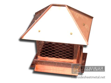 Fireplace Roof Caps by Copper Chimney Cap With Hip Roof Ch006