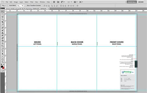 photoshop tri fold brochure template how to set up a tri