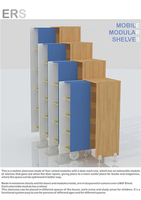 Modular Bookshelves by Mobile Modular Bookshelves On Behance