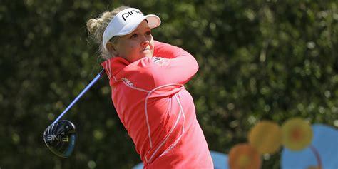swinging skirts golf leaderboard henderson takes swinging skirts lpga lead with 65 golfweek
