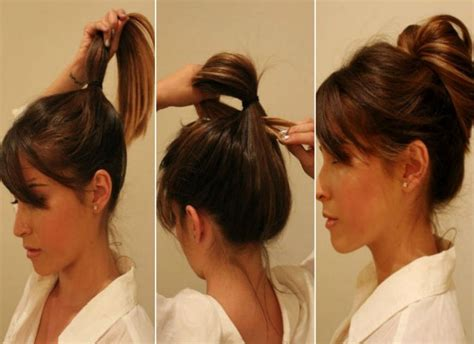hair peice for making buns to grow out hair messy bun pull your hair into a loose ponytail leaving