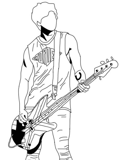 5 Second Sketches by Jet Black 5sos Drawing Sketch Coloring Page