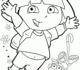 dora the explorer coloring pages juggling lion and dora
