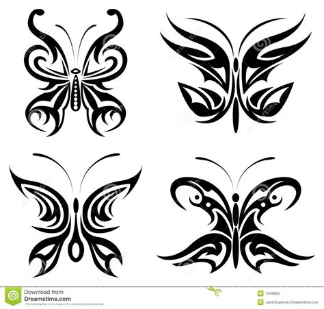 Butterfly Set tribal butterfly set royalty free stock photo image 7449605