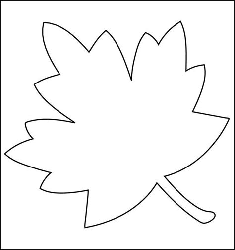 autumn leaf template free printables leaf printable template coloring home