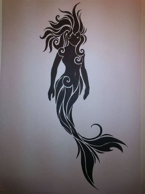 mermaid silhouette tattoo mermaid images designs