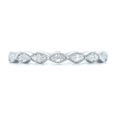 custom marquise eternity wedding band 102287