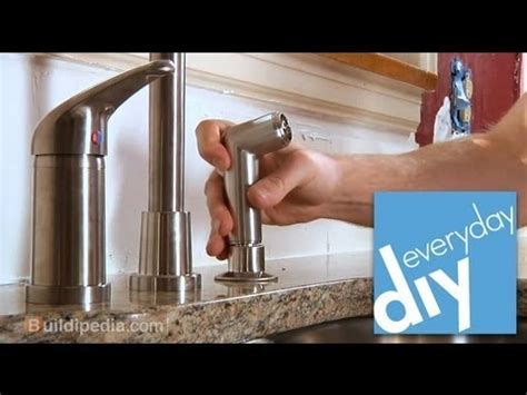 youtube replace kitchen faucet how to install a kitchen faucet buildipedia diy youtube