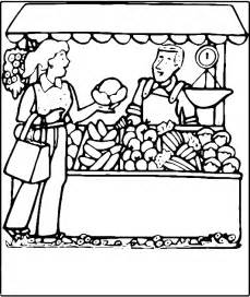 Market Clipart Black And White Farmers sketch template