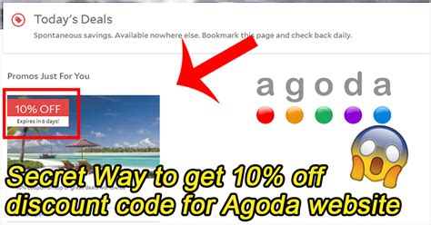agoda discount code 10 secret way to get 10 off discount code for agoda website