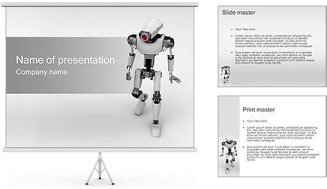 robotics themes for powerpoint robot powerpoint template backgrounds id 0000000696