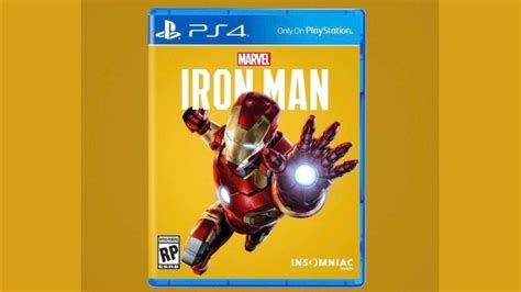 marvels iron man video game concept cover image