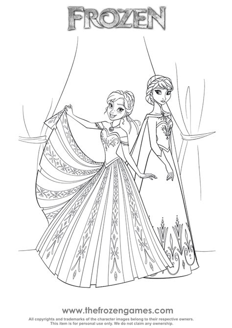 Frozen anna and elsa coloring pages