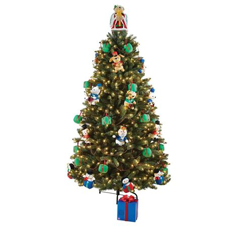 home accents holiday  ft artificial christmas tree  musical animated plush  led
