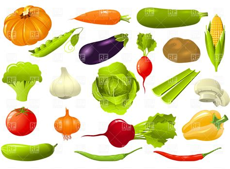 vegetable clip vegetables cliparts