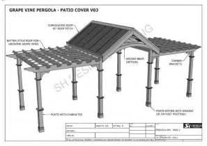 Grape Vine Pergola Plans by Grape Vine Outdoor Pergola Patio Cover Veranda V3 Full