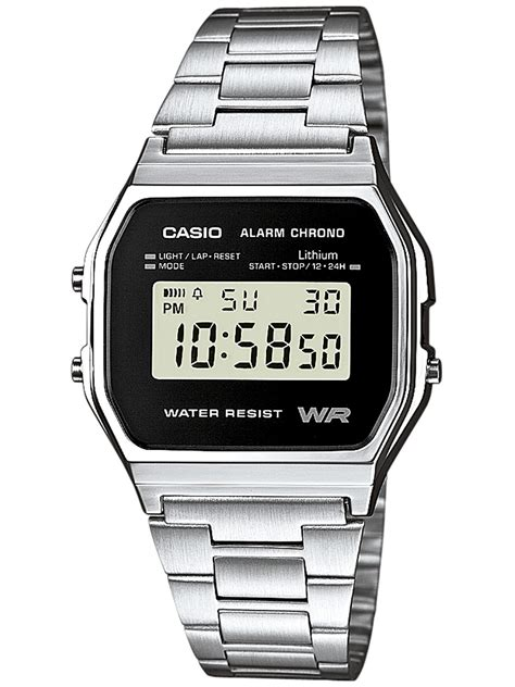 casio a158wea 1ef alarm chrono digital uhrcenter