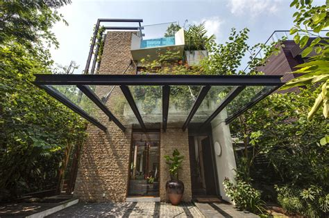 define house lush gardens and peekaboo roof pool define contemporary home modern house designs