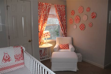 coral and gray vintage inspired girl s nursery project nursery