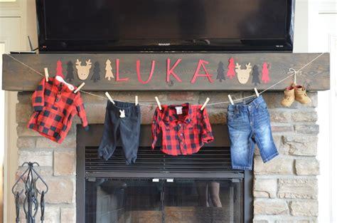 a lumberjack themed baby shower for luka project nursery