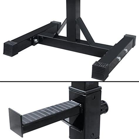 bench press stands zeny set of 2 adjustable standard solid steel squat stands gym barbell rack free bench