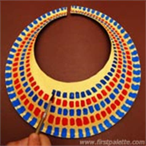 ancient collar template ancient collar or necklace craft crafts