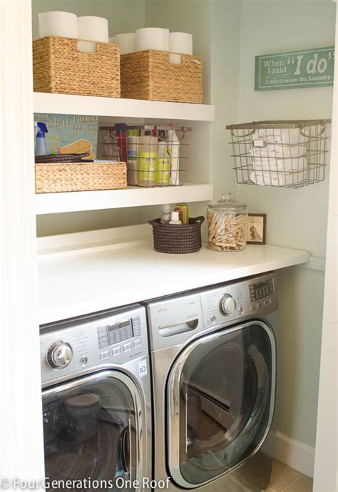 Laundry Room Shelf With Hanging Rod - 13 life hacks to calm the craze in your laundry room