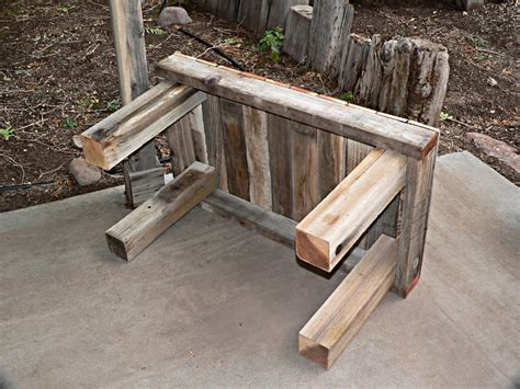 4x4 bench ana white reclaimed fence free benches diy projects