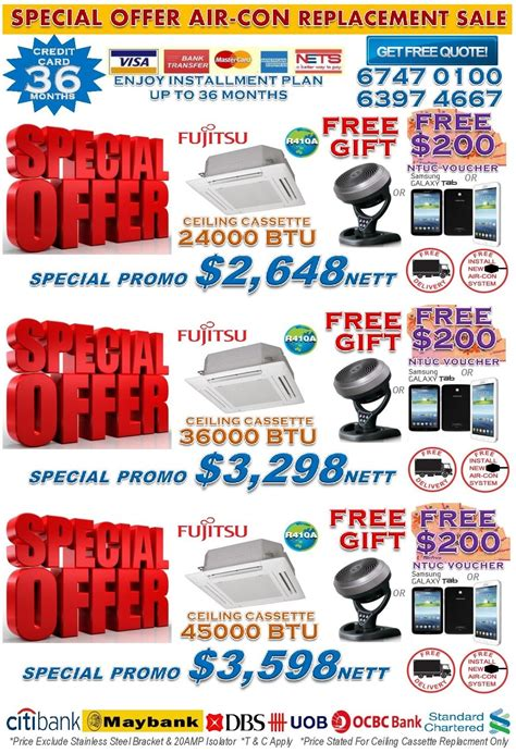 Special Giveaway - ct air con mitsubishi air con promotion free s 300 ntuc voucher