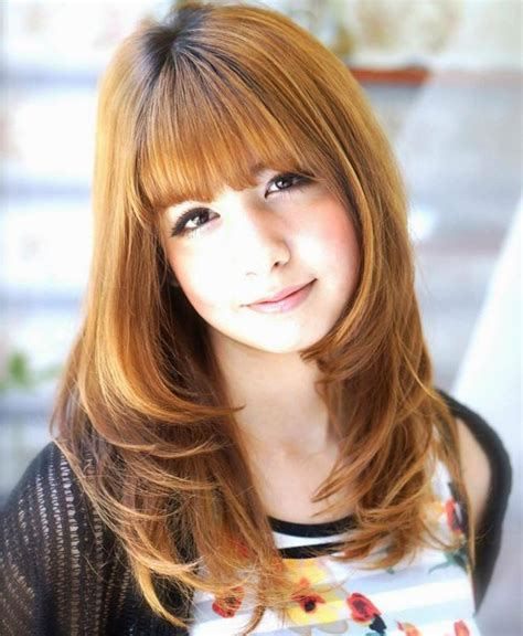 a frame hairstyles with bangs 50 cute long layered haircuts with bangs 2017