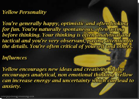 yellow color meaning color yellow color psychology personality meaning