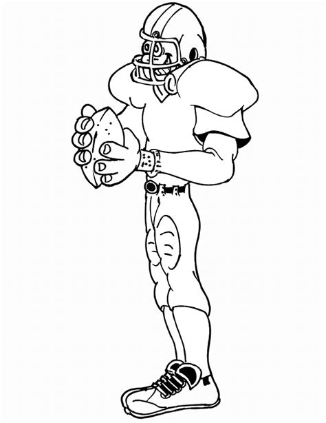 nfl quarterback coloring pages free printable football coloring pages for kids best
