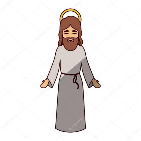 imagenes de jesus animado jesus tecknad av helig natt design stock vektor