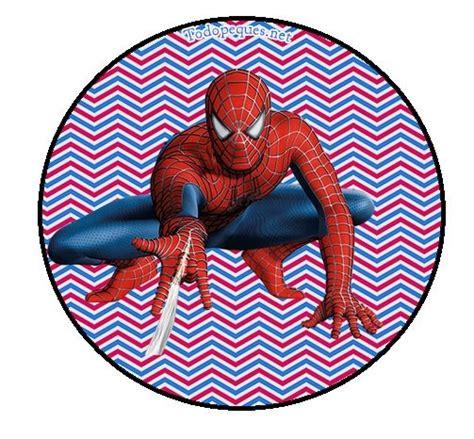 imagenes cumpleaños hombre araña spiderman stickers toppers etiquetas todo peques