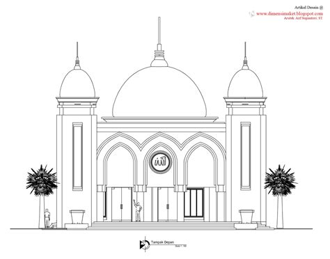 desain gambar masjid desain masjid musholla 010 perencanaan masjid al huda