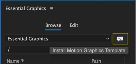 Motion Graphics Template Workflow In After Effects And Premiere Pro Cc 2017 Spring Premiere Bro Premiere Pro Motion Graphics Templates