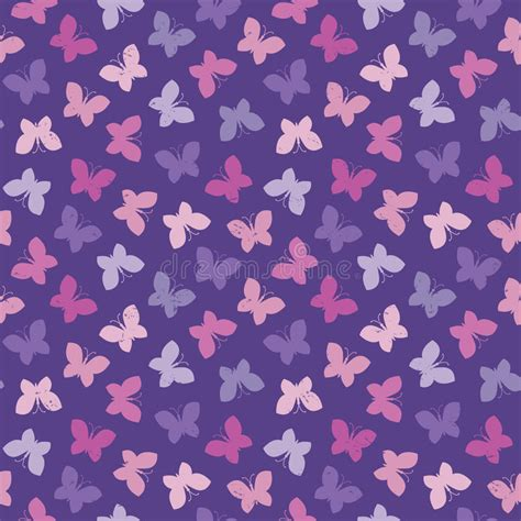 butterfly pattern pretty pink purple pack of gift tags seamless hipster background butterflies pink purple stock