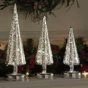 mercury glass decorated christmas trees designcorner