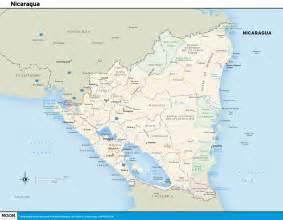 printable travel maps of nicaragua moon travel guides