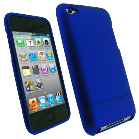 ipod blue igadgitz blue rubber coated cover for apple ipod touch 4th generation 4g 8gb 32gb