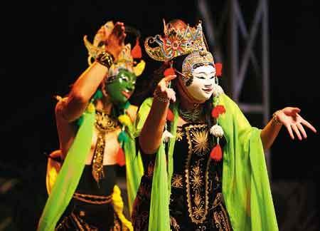 Topeng Tertawa Khas Bali T018 kesenian tari khas malang lintang kemukus