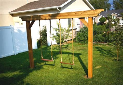 diy backyard swing set diy swing set 5 ways to make your own bob vila