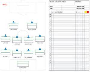 Soccer Lineup Template by Soccer Formations And Systems As Lineup Sheet Templates