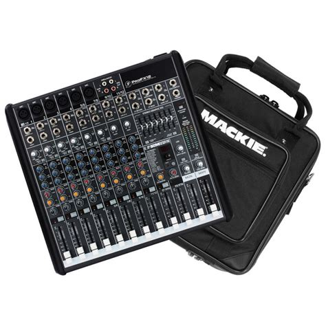 Mixer Mackie mackie profx12 channel mixer with fx with mackie padded mixer bag at gear4music