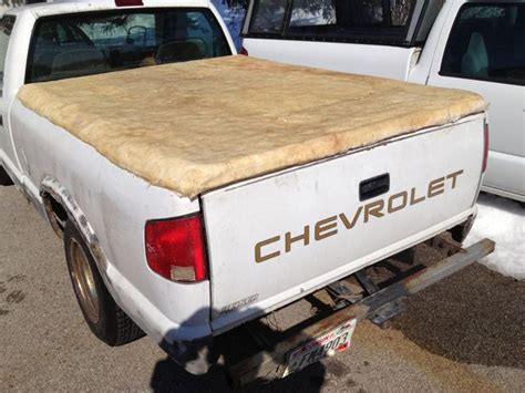 diy truck bed cer diy tonneau cover works great still ugly