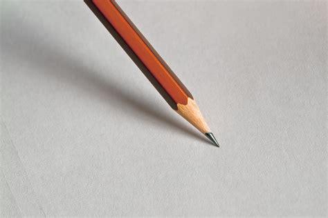 pencil on white paper 183 free stock photo