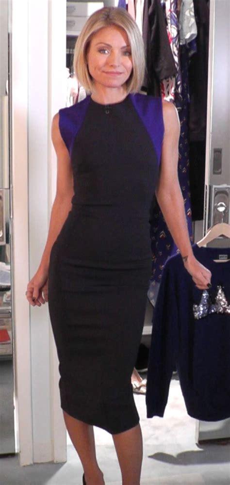 kelly ripa fashion finder kelly ripa wore this pretty victoria beckham balck and