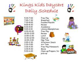 home daycare schedule template daily schedule for images